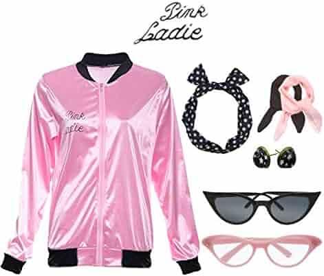 0da5df177fc9 Retro 1950s Pink Polka Dot Style Headband Ladies Jacket Costume Accessories