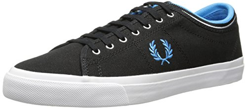 Fred Perry Mens Kendrick Toile Manchette Noire Tipped