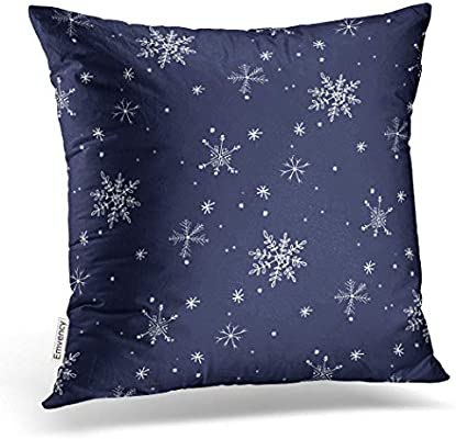Amazon.com: emvency Throw funda de almohada dec Azul Marino ...