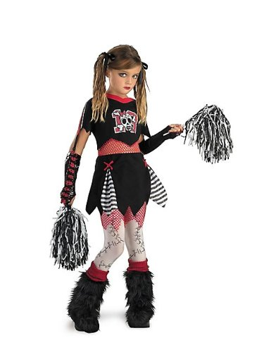 Kids Zombie Cheerleader Costumes (Cheerless Leader Child Costume - Medium)