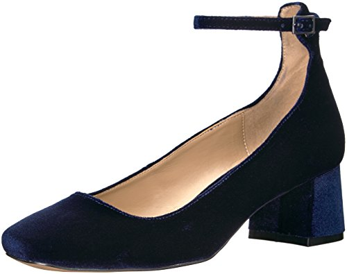(The Fix Women's Morgan Block-heel Ankle Strap Dress Pump, midnight navy, 9 M US)