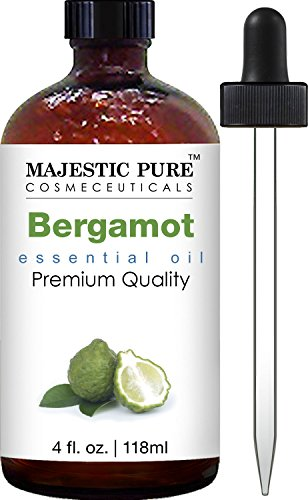 Majestic Pure Essential Oil, Bergamot, 4 Fluid Ounce