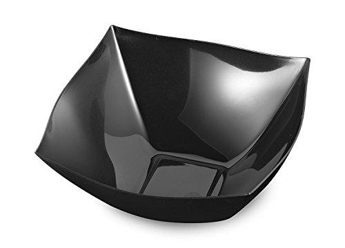 - Black Square Bowls 16 oz Disposable Plastic Party Serving Bowls Salad Bowls Pasta Bowl Fruit Bowl