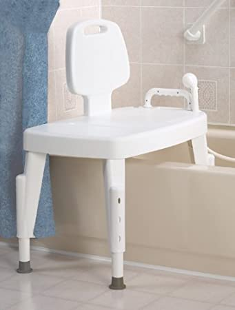 Amazon.com: Bath Safe Adjustable Transfer Bench: Health & Personal ...