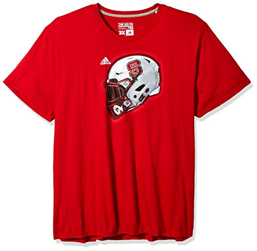 - adidas NCAA North Carolina State Wolfpack Adult Men 2017 Helmet Ultimate S/Tee, XX-Large, Power Red