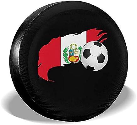 Cubiertas de Llantas Balón de fútbol con Bandera de Perú Cubierta ...