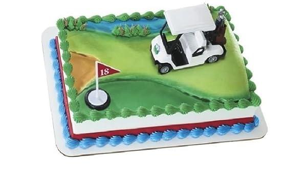 Amazon CakeDrake GOLF Cart Golfer Golfing Cake Decoration Party Topper Hole In One PGA Kit W Toys Games