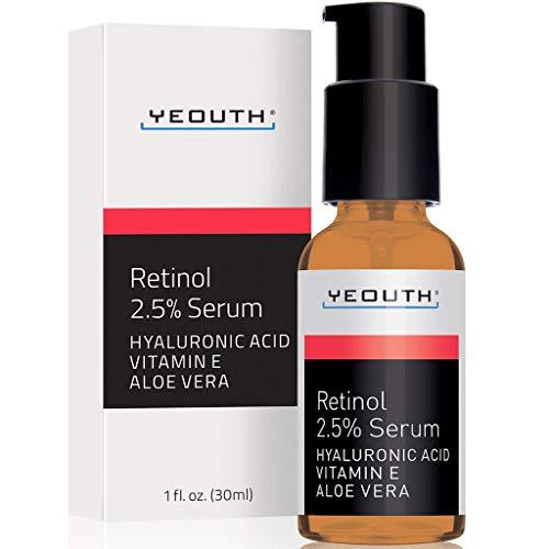 Retinol Serum 2.5% with Hyaluronic Acid, Aloe Vera, Vitamin E - Boost Collagen Production, Reduce...