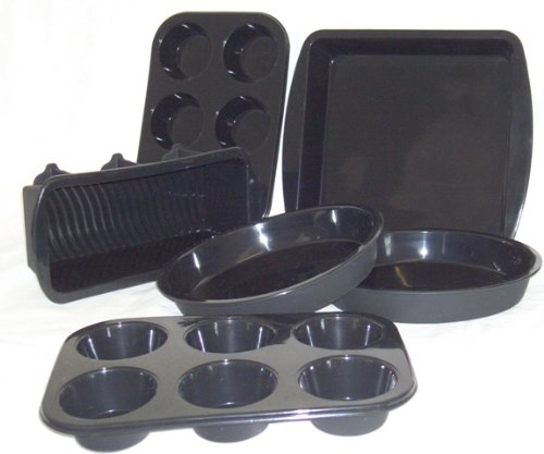 WellBake Professional 6 Pce Baker's Set. Superior Quality Non-Stick Silicone Bakeware + 10 Year Guarantee by WellBake