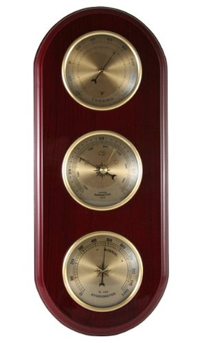 Ambient Weather WS-YG313-G Cherry Finish Brass Bezel Traditi