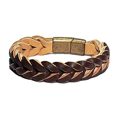 AUTHENTIC HANDMADE Leather Bracelet, Men Women Wristbands Braided Bangle Craft Multi [SKU003045]
