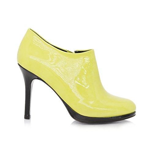 Stiefeletten Ankleboots Stiletto 9cm Lemon Lackleder (Original)