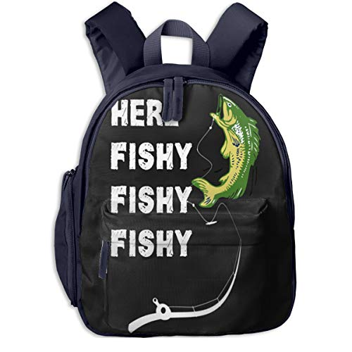 Here Fish Children Bag Comfortable Student Backpack Colorful Super Bag