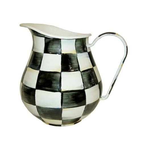 MacKenzie-Childs Enamel Pitcher-Courtly Check  by MacKenzie-Childs