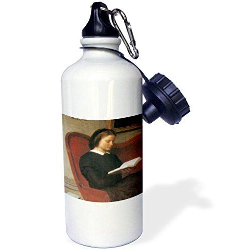 3dRose Woman Reading, 1861 by Henri Jean Fantin-Latour-Sports Water Bottle, 21oz (wb_171096_1), Multicolored