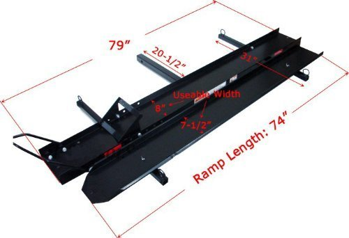 ALEKO 600Lb Hitch Mounted Sport Motorcycle Carrier Hauler Rack Ramp