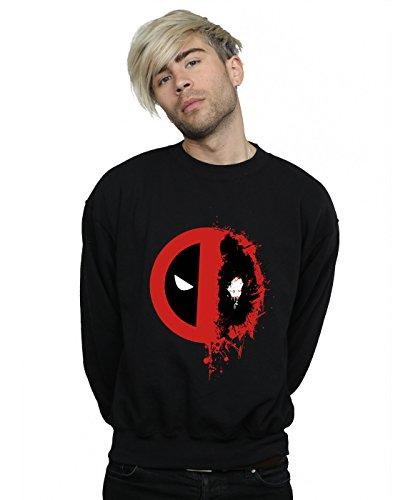 Entrenamiento Hombre Splat Logo Camisa De Negro Marvel Split Deadpool Awaf4