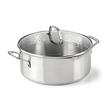 Calphalon Classic Stainless Steel Cookware, Dutch Oven, 5-quart