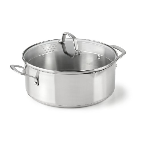 Dishwasher Safe Stainless Steel Dutch Oven (Calphalon Classic Stainless Steel Cookware, Dutch Oven,)
