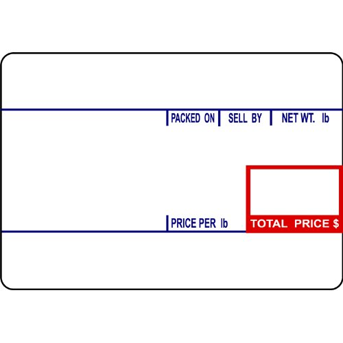 CAS LST-8010 Printing Scale Label, 58 x 40 mm, UPC  12 Rolls Per Case by CAS