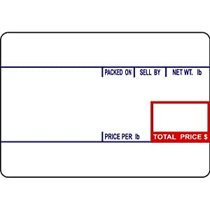 CAS LST-8010 Printing Scale Label, 58 x 40 mm, UPC  12 Rolls Per Case