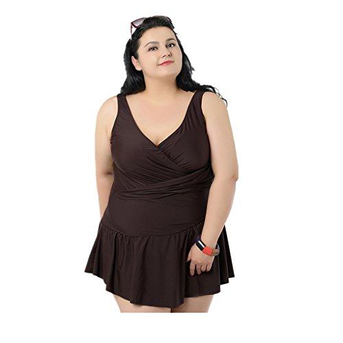 MagiDeal Plus Size Women Skirt One-Piece Swimsuit Beach W...