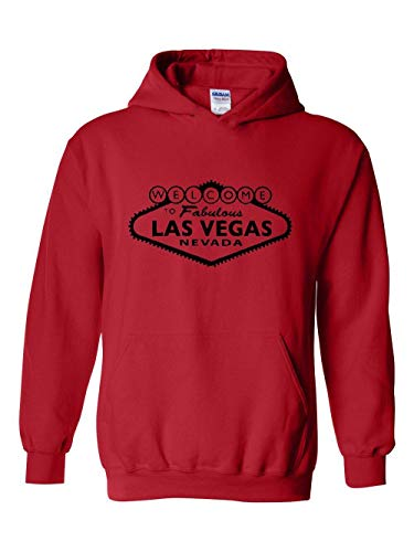 Las Vegas Traveler Gift Welcome to Las Vegas Unisex Hoodie (XLR) Red (Rio Las Vegas Early Check In Time)
