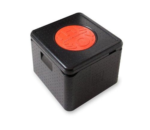 *6er Paket* - THE BOX Thermobox Pizza groß 79772; schwarz, Außenmaß 41 x 41 x 33 cm, Innenmaß 35 x 35 x 26,5 cm, Nutzhöhe 26,5 cm, 32 l.