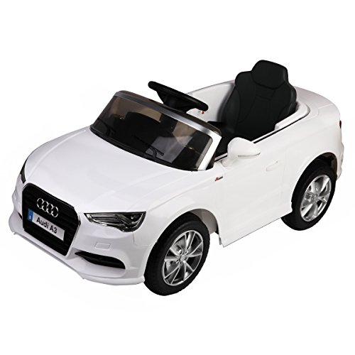 Adjustable Remote Horn - Costzon Ride On Car, Licensed Audi A3 12V 2WD Battery Powered Ride-On Toy Manual/ Parental Remote Control Modes Vehicle with Headlights, MP3, Music, Adjustable Speed for Kids (White)