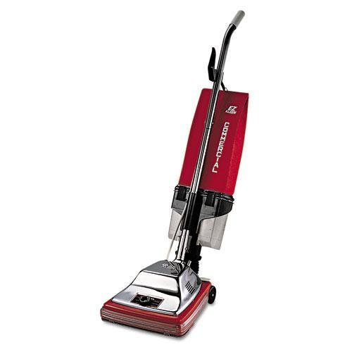 SANITAIRE 887 Upright Vacuum with EZ Kleen Dust Cup, 7 Amp, 12″ Path, Red/Steel For Sale