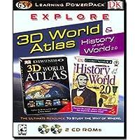 Dk Explore 3D World Atlas Learning Power Pack