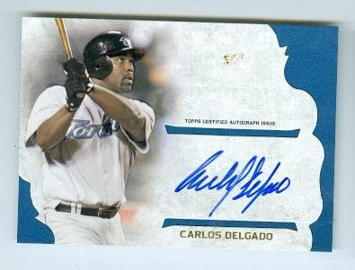 Autograph 223634 Toronto Blue Jays 2015 Topps No. Ssacd Certified Carlos Delgado Autographed Baseball Card ()
