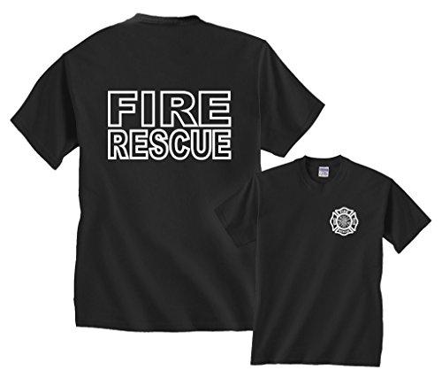 Fire Logo Shirt - Fair Game Fire Rescue T-Shirt-Black-XL