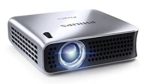"""Philips PPX4010 Portable LED Pocket Projector, 100 Lumens, with USB, HDMI Connectivity, 120"""" Video Projection, 2.9 Oz"""