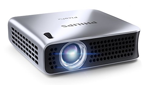 "Philips PPX4010 Portable LED Pocket Projector, 100 Lumens, with USB, HDMI Connectivity, 120"" Video Projection, 2.9 Oz"