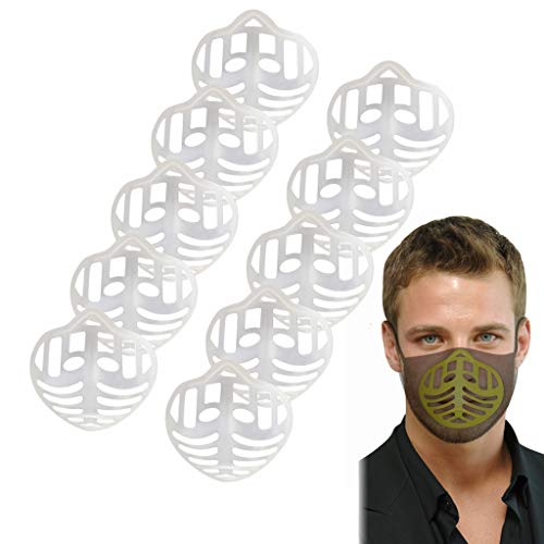 ZTY66 10 Pack 3D Face Bracket Face Inner Support Frame Soft Silicone Face Holder for Comfortable Breathing Washable Reusable