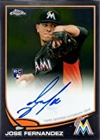 2013 Topps Chrome #32 Jose Fernandez Certified Autograph Baseball Rookie Card
