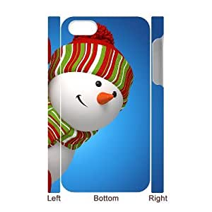 Personalized New Print Case for Iphone 4,4S 3D, Snowman Phone Case - HL-497921