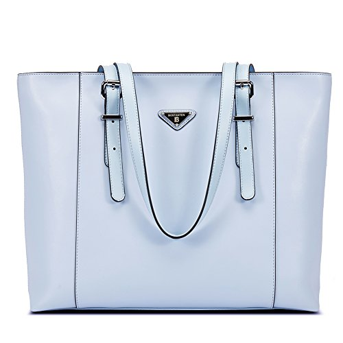 BOSTANTEN-Women-Briefcase-Leather-Laptop-Tote-Handbags-156-inch-Computer-Shoulder-Bags-Blue