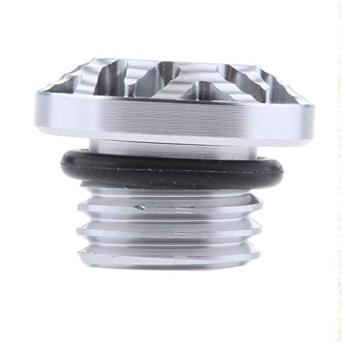 Flameer CNC Billet Oil Fill Cap Plug Bolt for Ducati Monster 696 796 797 821 1100 EVO - Silver