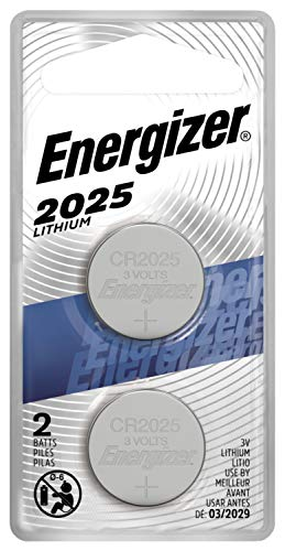Energizer CR2025 Battery, 3V Lithium Coin Cell 2025 Batteries (2 Battery Count)