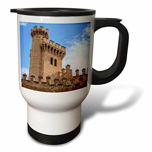 3dRose Danita Delimont - Castles - Spain, Balearic Islands, Mallorca, Palma de Mallorca, Almudaina palace - 14oz Stainless Steel Travel Mug (tm_277904_1) by 3dRose