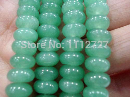 Calvas Hot 2019 New Fashion Style 5x8mm Green Aventurine Abacus Loose Beads Ornaments Jewelry Natural Stone 15''BV229 Wholesale - Abacus Loose Beads