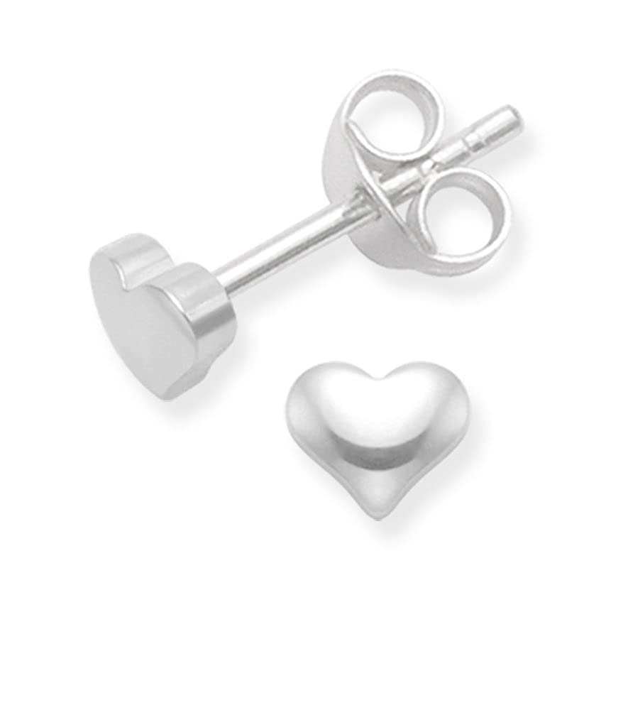 Heather Needham Sterling Silver Star Earrings - Tiny Flat star studs - SIZE: 3mm - Gift Boxed. B41HN/5148 GzpEz