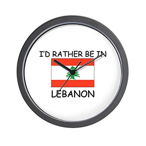 CafePress - I'd rather be in Lebanon Wall Clock - Unique Decorative 10
