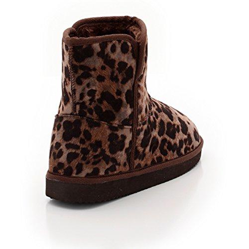La Redoute Les Petits Prix Frau Boots, Flacher Absatz, Gefuttert, Leopardenmuster Leopardenmuster