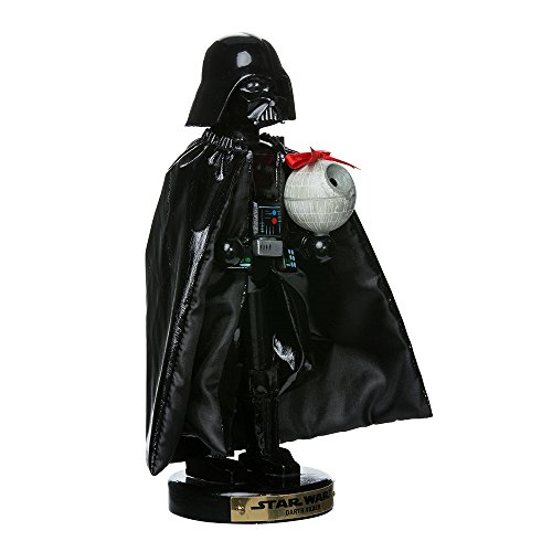 Kurt Adler Darth Vader with Death Star Nutcracker, 10-Inch
