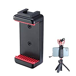 """Yantralay Ulanzi ST-07 Phone Tripod Mount with Cold Shoe Mount for Microphone LED Light with 1/4"""" Tripod Screw Compatible with iPhone/Oneplus/Mi/Oppo & Other Smartphones Vlogging Accessories (Black)"""