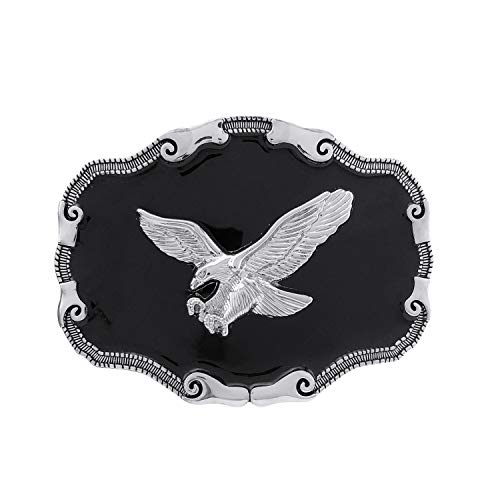 - YOQUCOL Native American Bald Eagle Belt Buckle Western Cowboy Mountain Flying Eagle Belt Buckle