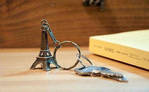 Portachiavi con Ciondolo a Forma di Torre Eiffel in Bronzo Idea Regalo OVVO